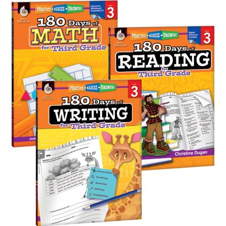 180 Days of Reading, Writing and Math for Third Grade 3-Book Set - 3rd Grade Halloween Writing Activities