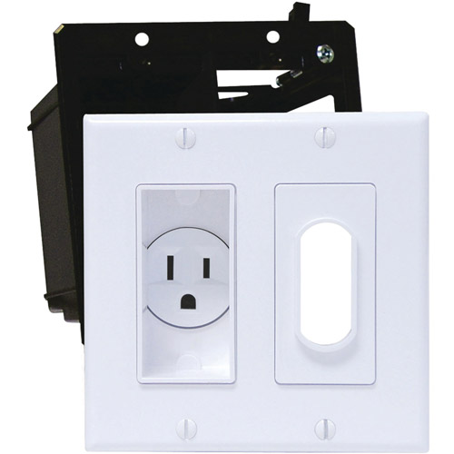 Midlite 2a4641-w Decor Recessed Receptacle Kit