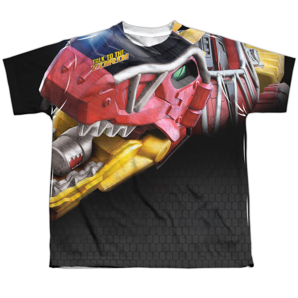 Mighty Morphin Power Rangers Big Zord Big Boys Sublimation Shirt