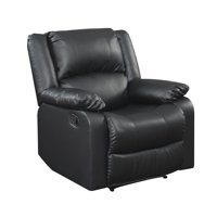 Deals on Serta Warren Recliner Single Chair in Black Leather