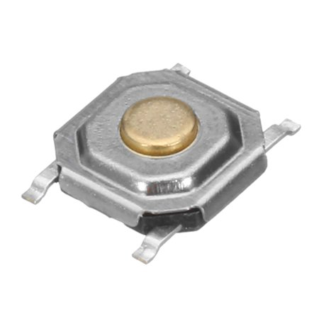 100Pcs 5Types Black Momentary Tact Tactile Push Button Switch SMD  Assortment Kit Set