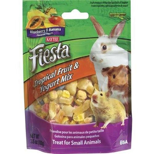 Kaytee Fiesta Blueberry & Banana Flavored Tropical Fruit & Yogurt Small Animal Treats, 3.5-oz bag