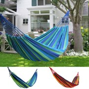 Stripe Canvas  Hammock Hanging Swing Chair Swing Rope Lying Bed For Outdoor Campimg Picnic Travel Garden Yard Patio