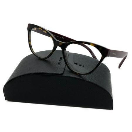 d5ba55f06f58 Prada Vpr 02t Ush-1o1 Havana Tortoise Bown Eyeglasses 52-17-140 B40mm Italy  - Walmart.com