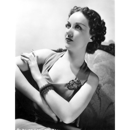 Fay Wray Posed with Hands Crossed and Old Fashioned Hairdo Photo Print - Old Fashioned Halloween Photos