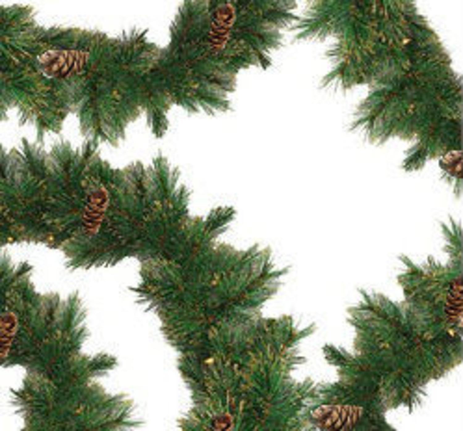 "9' x 10"" Yorkville Pine Artificial Christmas Garland -  Unlit"