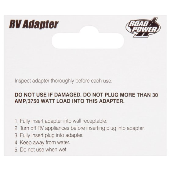 Road Power 30 Amp Female 50 Amp Male RV Adapter