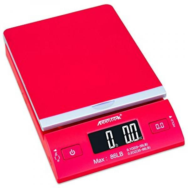Accuteck DreamRed 86 Lbs Digital Postal Scale Shipping Sc...