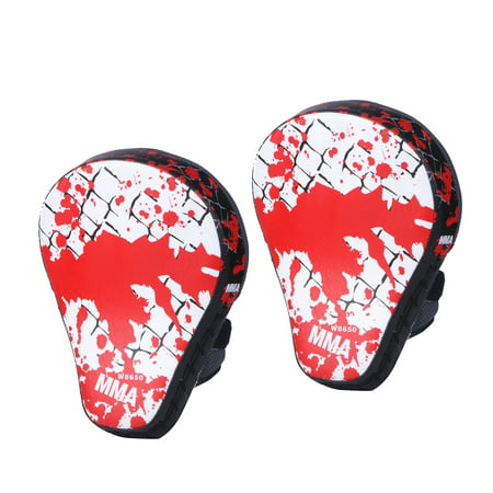Cheerwing 2pcs Target MMA Boxing Mitt Focus Punch Pad Training Glove Karate Muay (Karate Mitts)