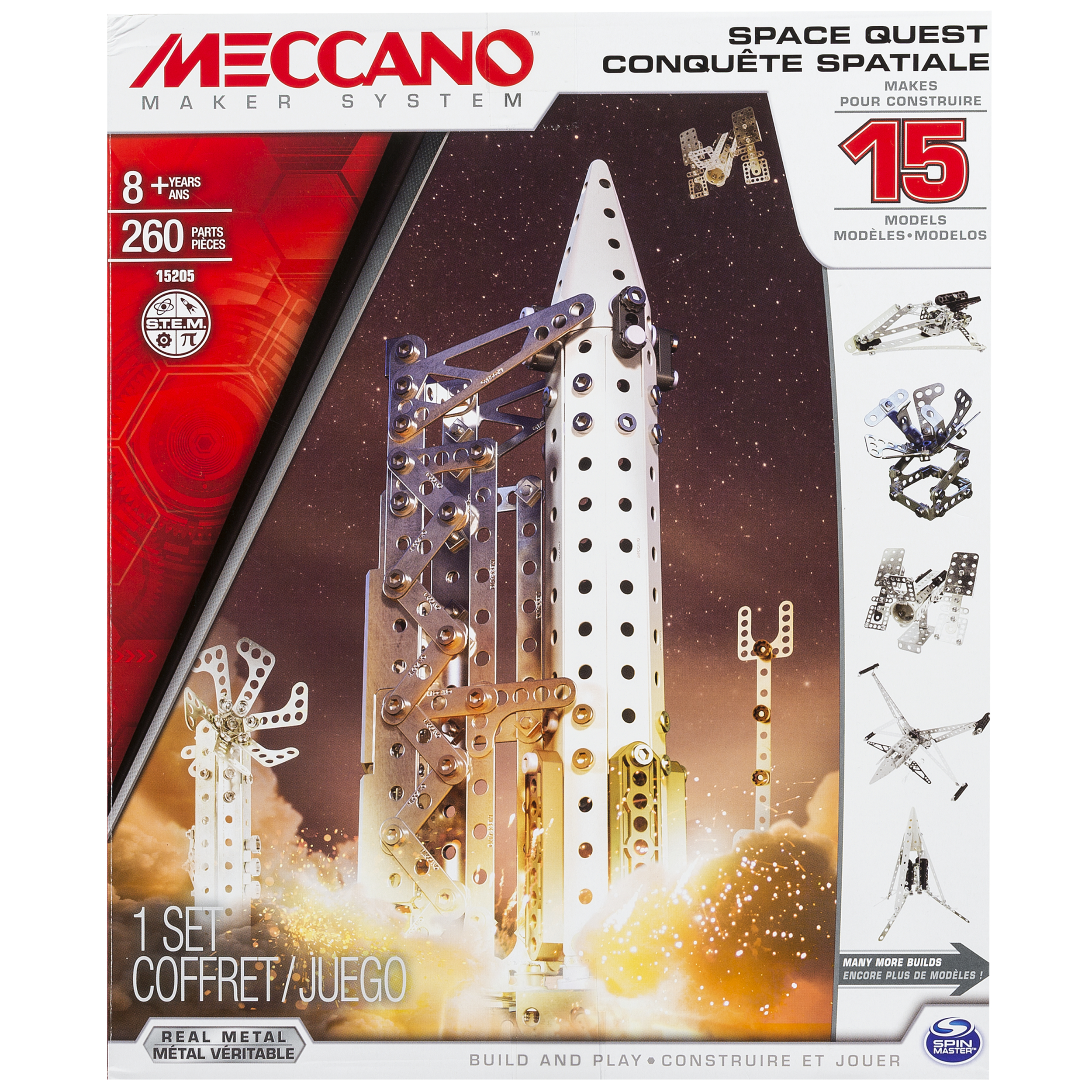 Meccano by Erector, Space Quest, 15 Model Building Kit
