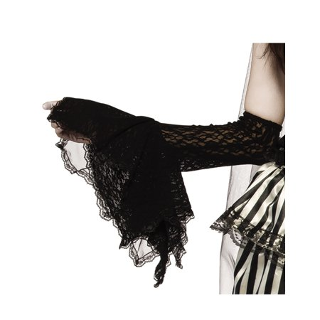 Grim Gauntlet Adult Women Black Witch Vampire Gothic Arm - Goth Arm Warmers