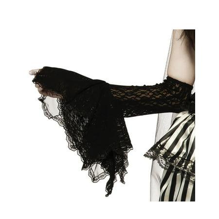 Grim Gauntlet Adult Women Black Witch Vampire Gothic Arm Warmers