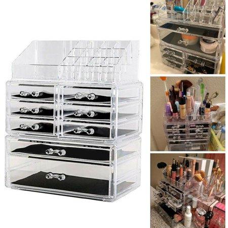 Ktaxon 7 Drawers Lipstick Holder Display Cosmetic Organizer Clear Makeup Case Storage
