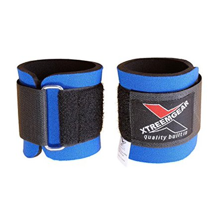 Weight Lifting Wrist WrapsTraining Straps Locked with Hook Blue