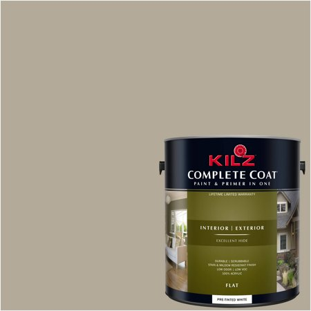 KILZ COMPLETE COAT Interior/Exterior Paint & Primer in One #LL220 Khaki