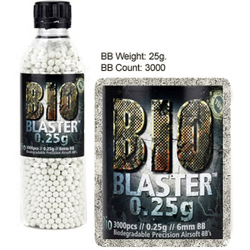 Aftermath Blaster Bio Airsoft BBs, 6mm, .25-Gram, 3,000-Count