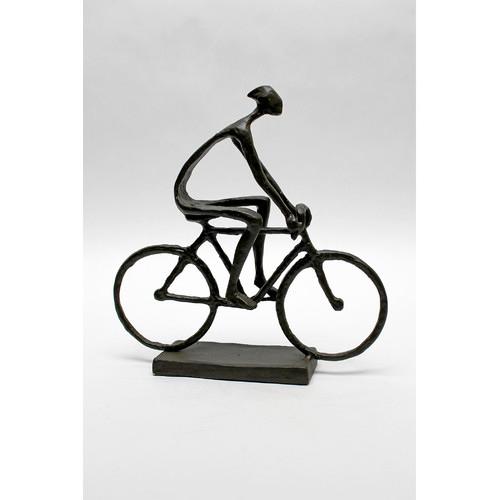 Vita V Home Man Pedaling Bike Figurine