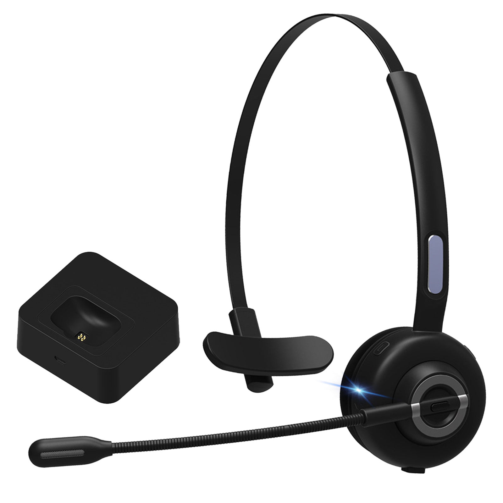 Bluetooth Headset with Noise Cancelling Microphone, Hands ...