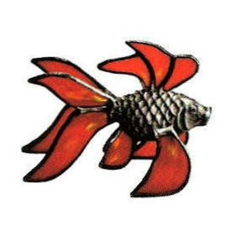 Lead-Free Fish Casting - Stained Glass Supplies, Figure and Pattern ONLY. By Stallings Stained Glass Ship from US