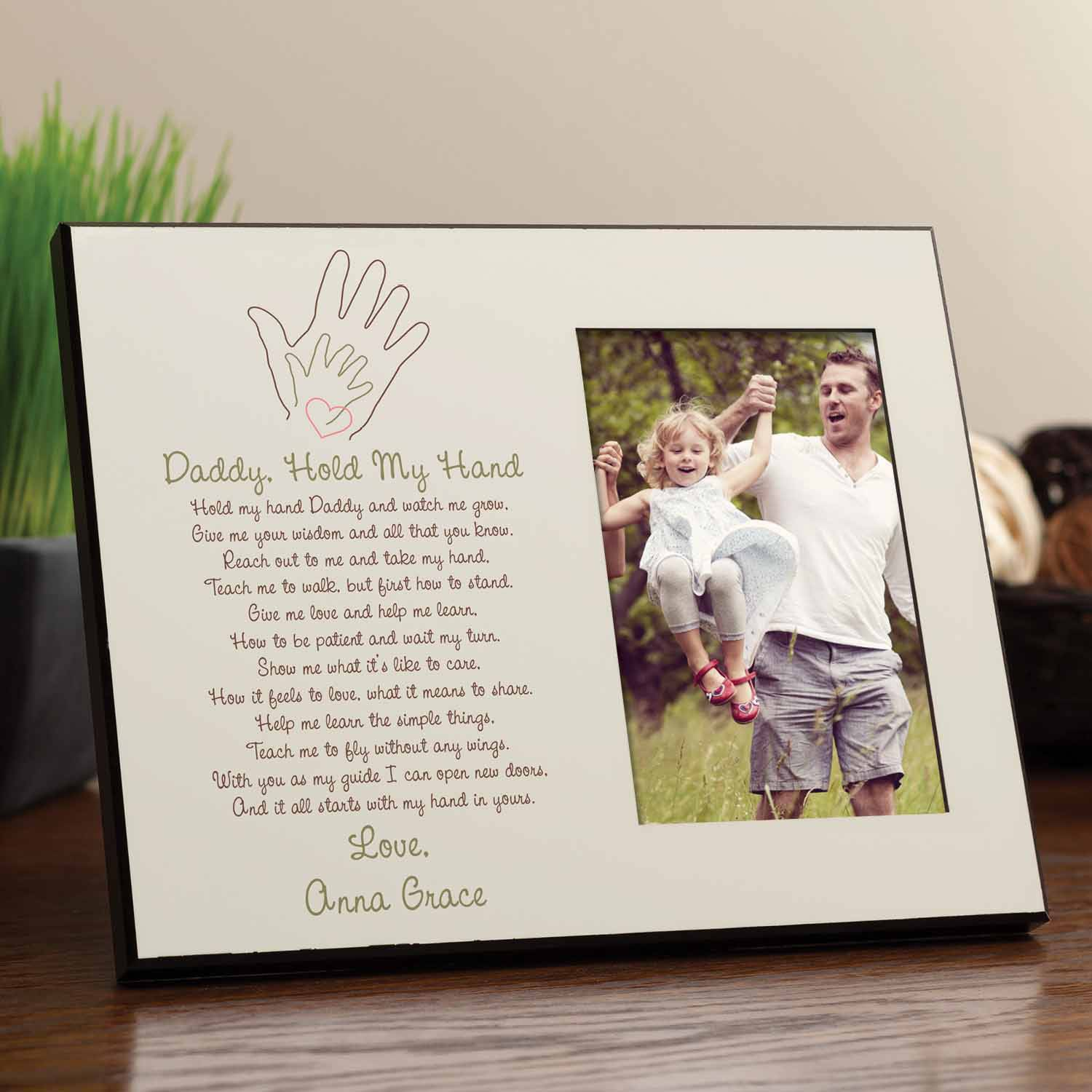 personalized daddy hold my hand frame walmart com