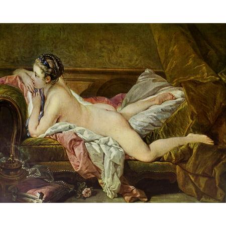 - Reclining Girl Meister des Rokoko 1900 Poster Print by  Fran ois Boucher