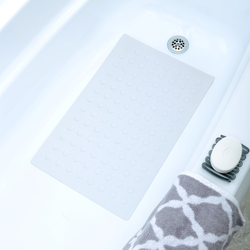 "SlipX Solutions 14"" x 22"" Rubber Bath Safety Mat"