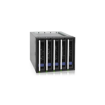 icy dock fatcage mb155sp-b 5 bay ez-tray 3.5 sata hard drive hot-swap backplane cage in 3x 5.25 bay