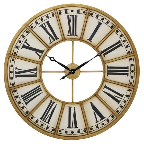 One Allium Way Rustic Roman Numeral 40'' Wall Clock