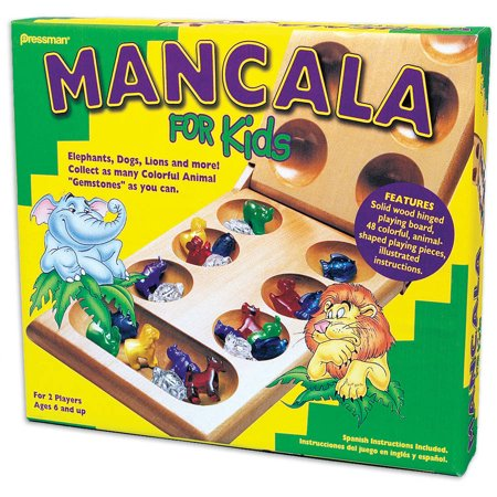 Mancala Game Set - Pressman Toy Mancala for Kids Ages 6 and Up Kids Game