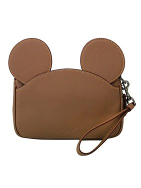 COACH x DISNEY Mickey Mouse Ear Wristlet in Saddle