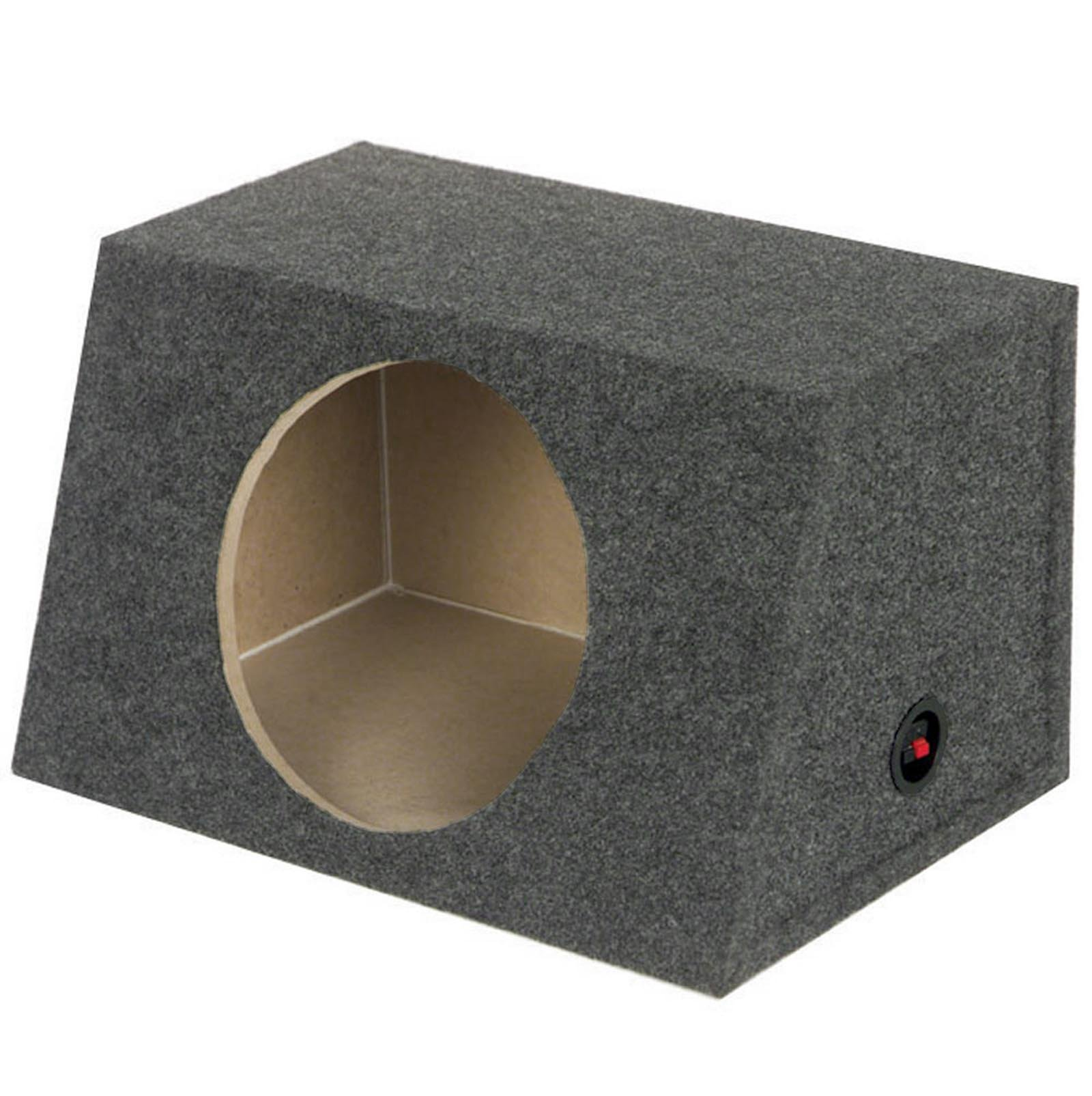 "NEW QPOWER Heavy Duty Sealed Front-Angle Single 15"" Subwoofer Enclosure Sub Box"