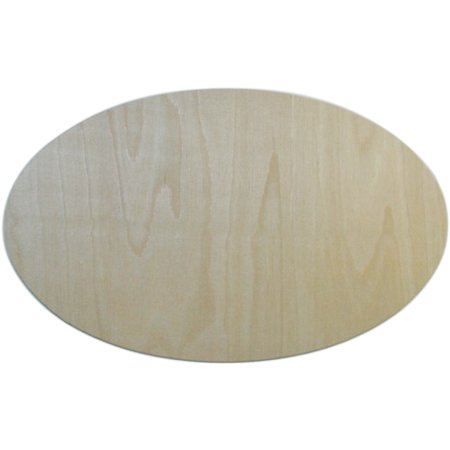 """MPI Unfinished Wood Baltic Birch Plaque, Oval, 7.75"""" x 12.5"""""""