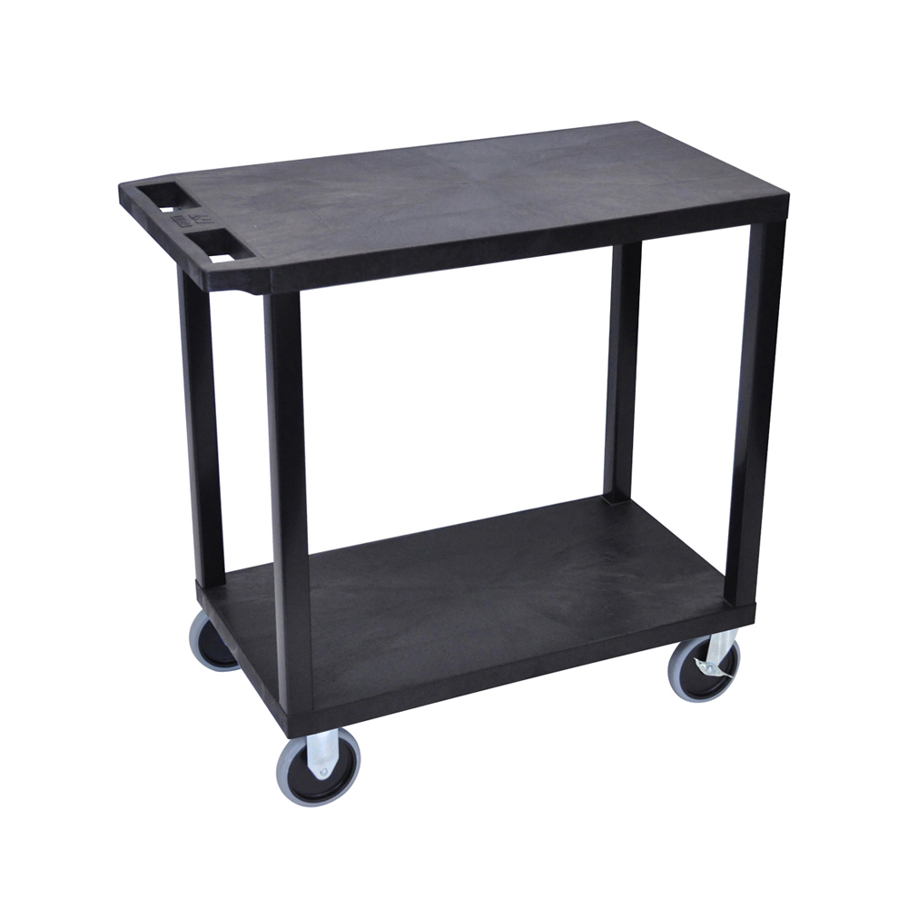 Offex Black OF-EC22HD-B 18x32, Cart with 2 Flat Shelves