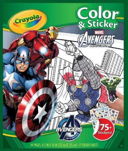 Álbumes y pegatinas Crayola Avengers Color n Sticker Books by Crayola