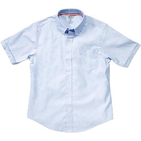 French Toast School Uniform Boys Short Sleeve Oxford Shirt, Blue, 10