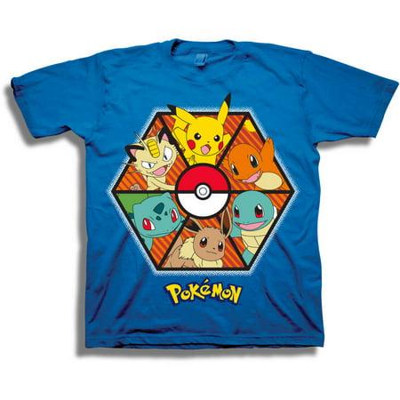 Pokemon Octopanel Characters Boys Short Sleeve Graphic Tee
