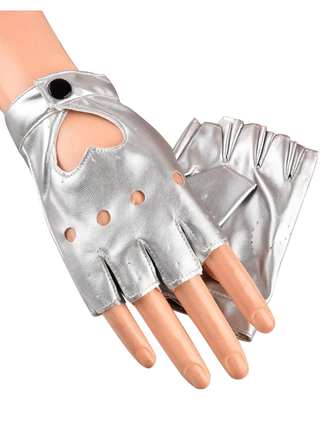 Silver Fingerless Mittens