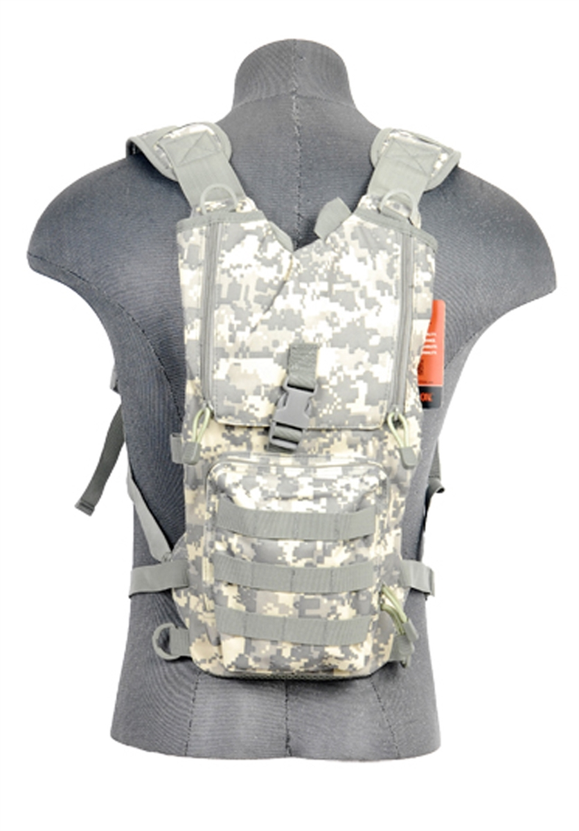 Lancer Tactical Light Weight Hydration Camel Pack in ACU For 2.5L Bladders - by