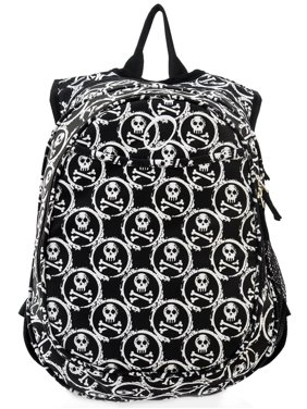 Kids Pre-School All-In-One Backpack With Cooler - Skulls