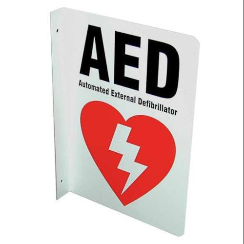 DEFIBTECH DAC-231 Safety Sign,AED,L-Shaped,10x7 In.