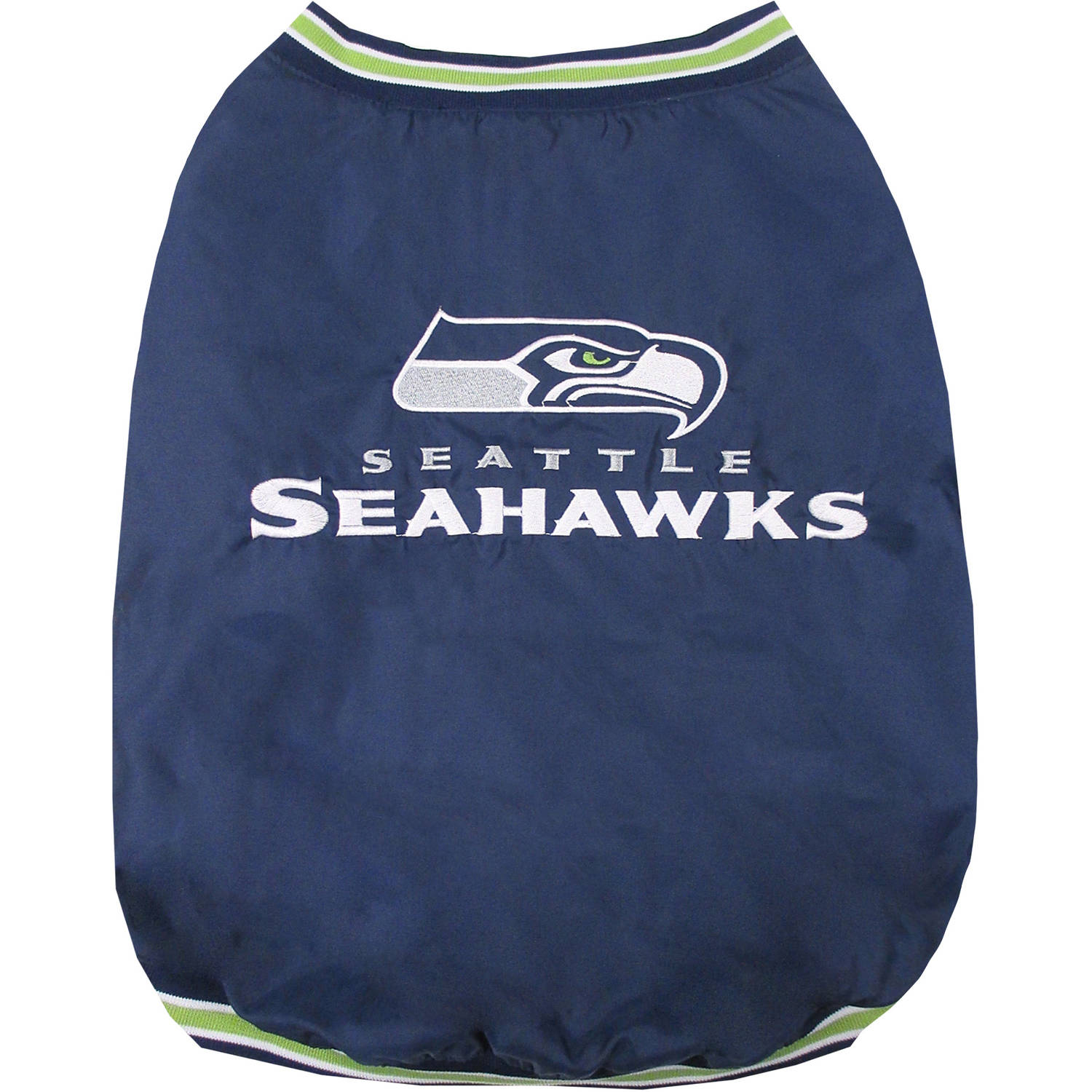 Pets First NFL Seattle Seahawks Dugout Jacket for Dogs/Cats, 3 Sizes Available