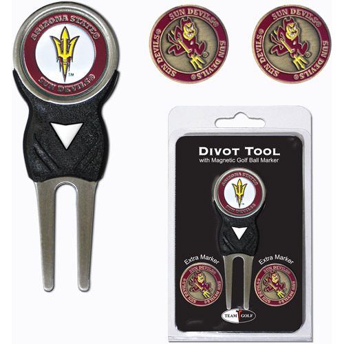 Team Golf NCAA Arizona State  Divot Tool Pack With 3 Golf Ball Markers
