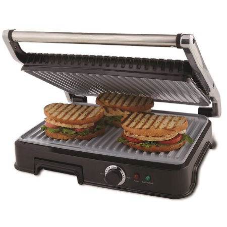 Oster Extra Large DuraCeramic Panini Maker and Indoor Grill ...
