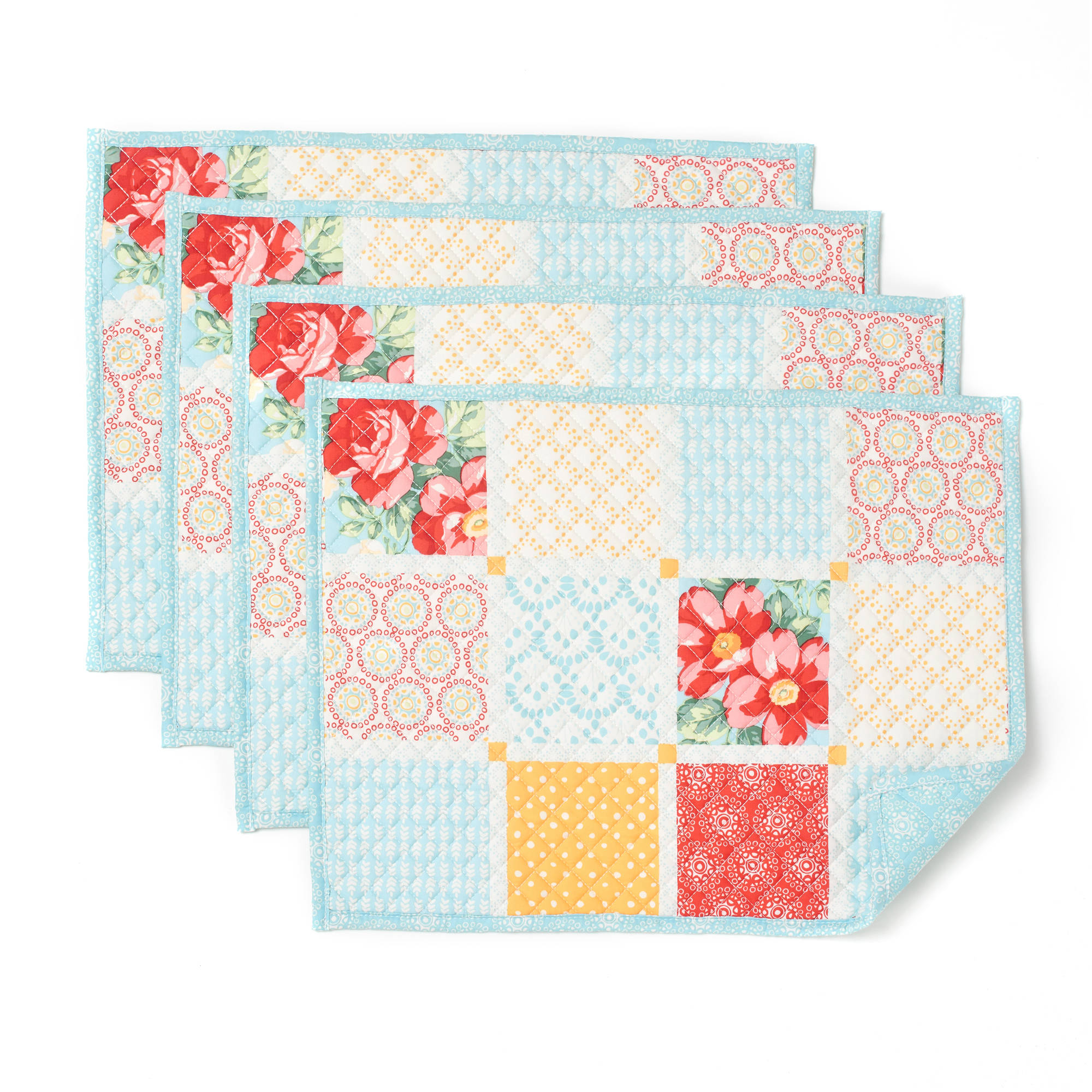 The Pioneer Woman Diamond Patchwork Placemat, Pack of 4 by TOWN & COUNTRY LINEN
