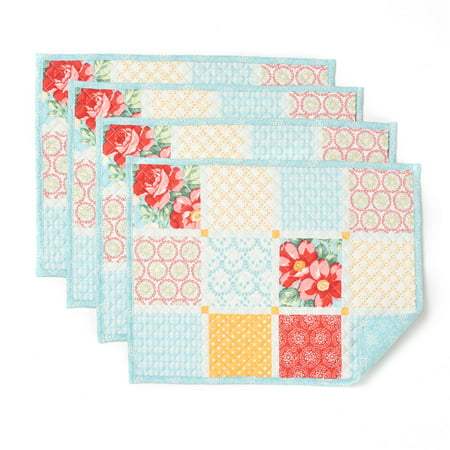 The Pioneer Woman Diamond Patchwork Placemat Pack Of 4
