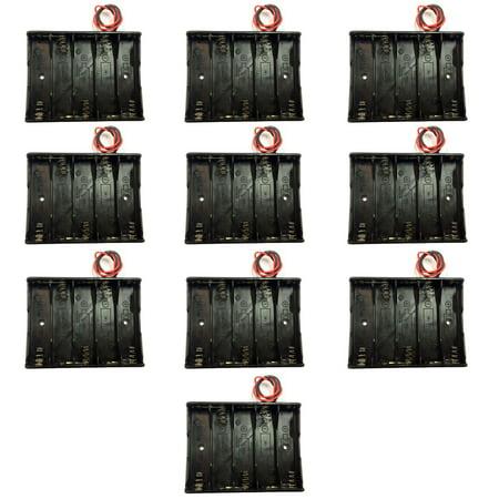 TrendBox Pack of 10pcs For 5xAA Battery 7.5V LR6 UM3 Black Plastic ...