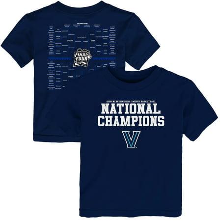 Villanova Wildcats Toddler 2018 NCAA Men's Basketball National Champions Bracket T-Shirt - (2000 Ncaa Basketball Champions)