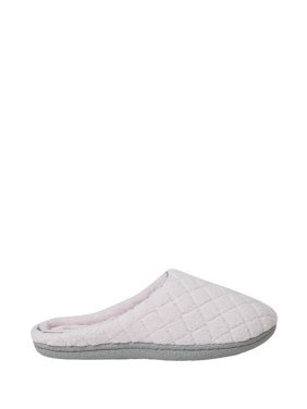 798f753e7104ca Product Image Dearfoams Womens Leslie Quilted Microfiber Terry Clog slippers