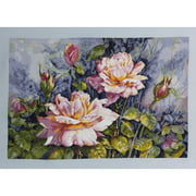 "Heirloom Collection Dana's Roses Counted Cross Stitch Kit-20""X16"" 28 Count"