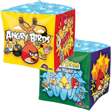 Angry Birds Cubez Foil Mylar Balloon (1ct)](Angry Bird Balloon)